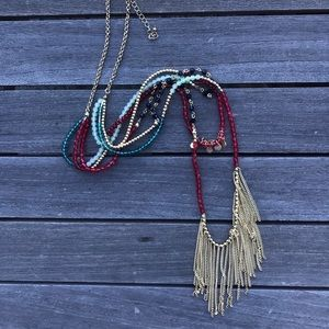 layered free people necklace